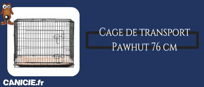 cage de transport pour chien pawhut