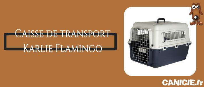 caisse de transport karlie flamingo
